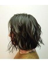 ヘアアンドスパ ケー(Hair&spa K)マットアッシュカーリーボブ