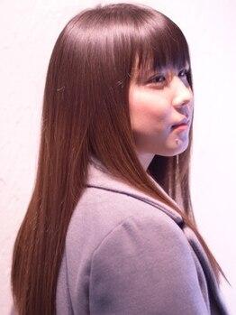 ヘアーアンドメイク シャンプー(hair&make shampoo)の写真/ダメージレスに特化したオリジナルのDamageBusterストレート!諦める前に一度shampoo Fussaにご相談を◎