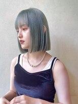 デコ(DECO)《RYUSEI》ミントグリーン/くすみブルー/ダブルカラー/髪質改善/