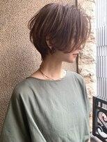 この夏おすすめ☆前髪なし×絶壁解消ひし形ショートボブ