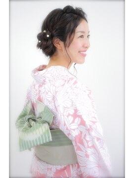浴衣美人☆ヘアセット+浴衣着付 花火大会に♪