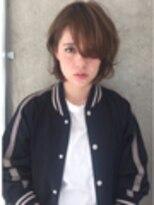 アレーン ヘアデザイン(Alaine hair design)ヌーディハイライト×耳掛けBOB