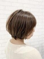 ビス ヘア アンド ビューティー 西新井店(Vis Hair&Beauty)20代30代/大人かわいい/前下がりショートボブ/アッシュベージュ