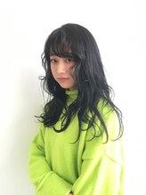 ヘアメイク オブジェ(hair make objet)ダークブルー 韓国女子STYL
