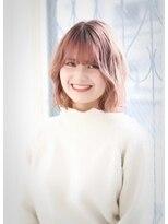 ヘアアンドメイク エジェリ(hair&make egerie)【春を先取り♪】小顔☆ピンキーミディ