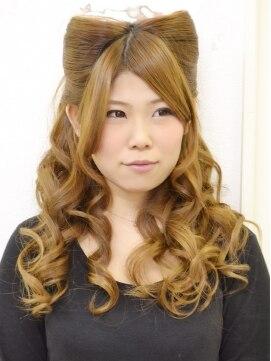 猫耳ヘア 結婚式の髪型(ヘアアレンジ)  ネコ耳