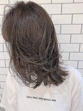 ラボヌールヘアーアドレ 池袋東口店(La Bonheur hair adorer)外ハネミディアムレイヤー