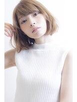 アミィヘアー(Ami Hair)アッシュベージュ×ふわボブ