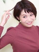 オーガニックサロン フェイス 梅田店(organic salon face)短いジグザグバングで小顔に!!周りを虜にする愛されショート