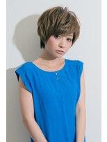 アッシュ ヘアーメイク 桐生(ash hair×make)30代40代-5歳×大人可愛い×ハンサムショート