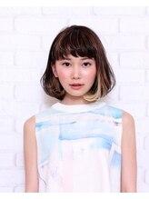 ヘアーデザイン コラボ(hair design co.llabo)インナーカラーボブ