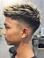 カッコいい短髪サイドグラデーションブリーチスタイル