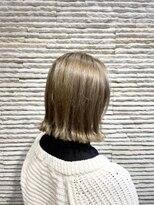 ビス ヘア アンド ビューティー 西新井店(Vis Hair&Beauty)大人可愛い/ひし形/グレージュ/20代30代/切りっぱなし/西新井