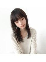 ぱっつん前髪ストレートセミロング【vicca萩原】