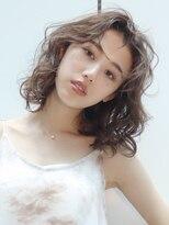 アルバム シンジュク(ALBUM SHINJUKU)スパイラルカール_セミウェットウェーブオリーブカラー_38090