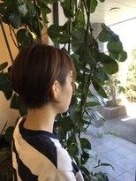 エッセンス☆大人かわいい前下がりツーブロックショートボブ30代40代