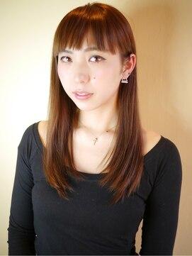 ヘアー グランジ プラス(hair Glunge Plus)赤味系ブラウンに重めのレイヤーヘア