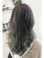 ヘアーサロン エール 原宿(hair salon ailes)(ailes 原宿)style416 アッシュグレー×ヘンプグリーン