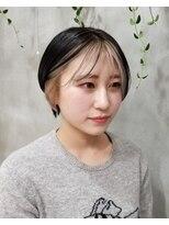 テトヘアー(teto hair)韓国ヘア インナーカラー フェイスフレーミング ツートーン