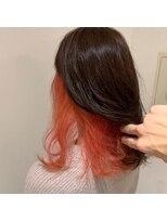 ネオヘアー 曳舟店(NEO Hair)【インナーカラー】コーラルオレンジ(曳舟)