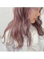 透明感ピンクベージュ大人かわいいグラデーションカラー