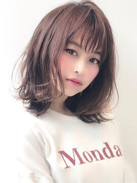 アグ ヘアー カーレント 天文館店(Agu hair current)とろみ質感外ハネミディ