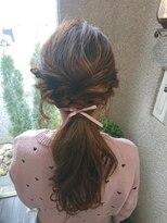 ヘアーセット 一つ結び~編みおろしstyle