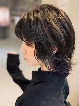 グランヘアー 南店(GRAN HAIR)インナーカラー☆ブルーバイオレット【GRAN HAIR南店】