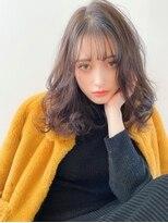 《Agu hair》柔らかカラー×軽ウェーブセミロング