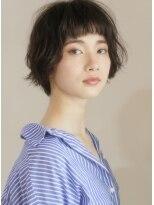 キース ヘアアンドメイク(kith. hair&make)恵比寿kith.本田×カール クラシカル 黒髪 オン眉ショート