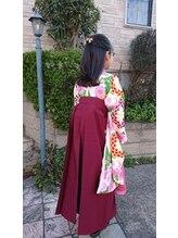 アンソレイユ(ensoleille)小学校卒業式の袴スタイル