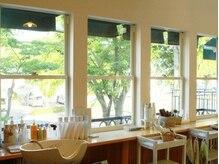 Live in Clover beauty labの雰囲気(自然光が入るあたたかい雰囲気の空間でお寛ぎ下さい♪)