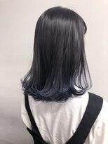 【ALIVE ryota】ネイビーブルーグラデーションカラー ロブ