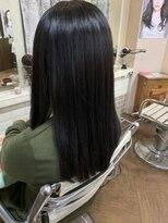【30代、40代女性の髪質改善】ツヤツヤ美髪ストレート☆