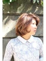 ヘアーアンドメイク ポッシュ 根岸店(HAIR&MAKE POSH)ふんわりフェミニンボブ