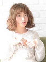 アース 新潟青山店(HAIR&MAKE EARTH)大人かわいい♪ランダムカールボブ【EARTH新潟青山】