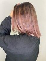 ソース ヘア アトリエ 京橋(Source hair atelier)【SOURCE】コーラルピンクバレイヤージュ
