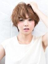 オーブ ヘアー コト 京都北山店(AUBE HAIR koto)ラフ感漂うショートボブでオシャレ度up♪