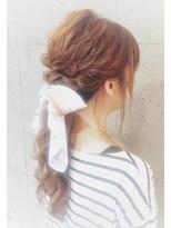 ヘアセットアンドメイクアップ シュシュ(Hair set&Make up chouchou)波ウェーブ★ローポニー