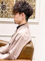 くせ毛カット前下がりマッシュ短髪パーマID@kousuke.kido