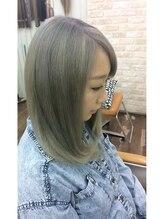 ヘアースペース 松戸店(hair space COCO)マットアッシュのダブルカラー