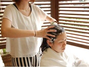 ロコ ヘアーメイク(ROCO HAIR MAKE)の写真/≪大人気≫アロマスパ☆クレンジング+保湿成分で地肌と髪を健やかに整えます♪
