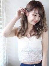 ロゼオ(Roseo)【Roseo】HOGO水ハイ透明感カラー☆セピアグレージュ巻き髪2