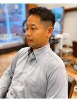 アイリーヘアデザイン(IRIE HAIR DESIGN)【IRIE HAIR赤坂】七三オールバック×アップバング×フェード
