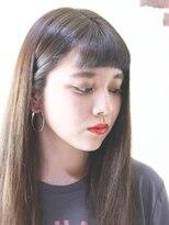 ヘアデザイン ル クール(hair design Le coeur)ショートバングロングスタイル