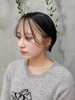 テトヘアー(teto hair)フェイスフレーミング ホワイトベージュ 韓国ヘア シースルー