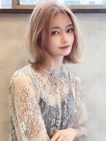 《Agu hair》透明感カラーの韓国風くびれロブ