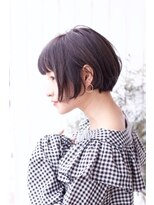【HOLIDAYS】黒髪ボブ×ニュアンスカール