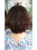 ヘアサロンアンドリラクゼーション マハナ(Hair salon&Relaxation mahana)軽やかなひし形シルエットのグラボブスタイル!
