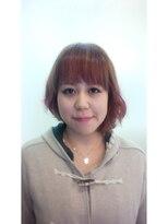 ヘアーアンドメイク ポッシュ 日暮里店(HAIR&MAKE POSH)ピンクカラーアシンメトリースタイル